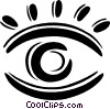 Vector Clip Art image  of a eye icon