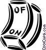 on/off switch Vector Clip Art graphic