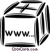 world wide web Vector Clip Art image