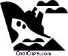 Vector Clip Art image  of a ocean liner
