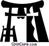 Oriental temple Vector Clipart picture