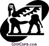 Egyptian Sculptures Vector Clip Art picture