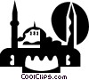 Vector Clip Art image  of a Middle East Building