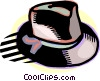 Vector Clipart image  of a fedora hat