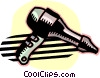 blow dryer/ hair dryer Vector Clip Art picture