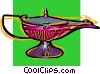 Vector Clip Art image  of a genie's lamp