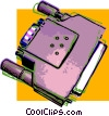 Vector Clip Art graphic  of a computer plug