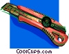 Vector Clip Art picture  of a exacto knife
