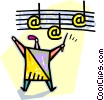 Vector Clip Art graphic  of a music conductor
