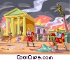 The Burning of Rome Vector Clipart picture