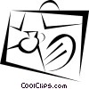 Vector Clip Art graphic  of a file folder briefcase