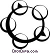 tambourine Vector Clipart illustration