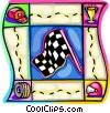 Vector Clipart graphic  of a checkered flag