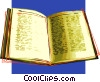 Vector Clipart picture  of a The Bible