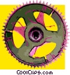 gears Vector Clip Art graphic