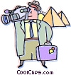 Vector Clip Art image  of a tourist in Egypt
