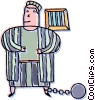 person in jail Vector Clipart picture