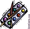 Paint and brushes Vector Clip Art image