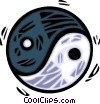 Vector Clipart image  of a ying & yang