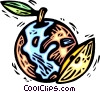 Vector Clipart graphic  of a planet earth