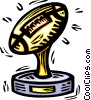 Vector Clipart image  of a football trophy