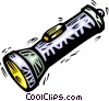 Vector Clipart image  of a flashlight