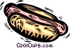 Vector Clip Art graphic  of a hot dog