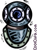 Deep sea diving mask Vector Clipart graphic
