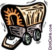 Vector Clip Art image  of a Covered wagon