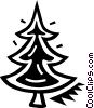 Vector Clip Art image  of a Christmas tree