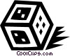 dice Vector Clipart image