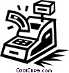 Vector Clip Art graphic  of a cash register
