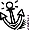 Vector Clip Art image  of an anchor