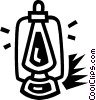 Vector Clip Art image  of a oil lantern