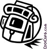 back pack Vector Clipart picture