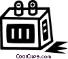 Vector Clip Art graphic  of a large battery