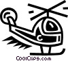 Vector Clip Art graphic  of a helicopter