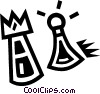 Vector Clipart image  of a chess pieces
