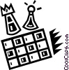chessboard and pieces Vector Clipart picture