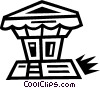 Vector Clip Art image  of a gazebo
