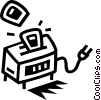 Vector Clip Art image  of a toaster