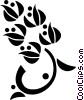 Vector Clipart graphic  of a decorative flourishes