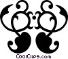 decorative flourishes Vector Clipart graphic