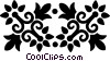 decorative flourishes Vector Clipart illustration