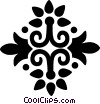 Vector Clipart image  of a decorative flourishes