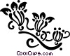 Vector Clip Art graphic  of a decorative flourishes