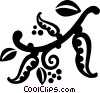 Vector Clipart illustration  of a decorative flourishes