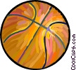 Vector Clip Art picture  of a Basketball