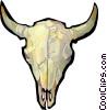 Vector Clip Art image  of a Bull Skull