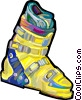 Vector Clip Art image  of a Ski boot